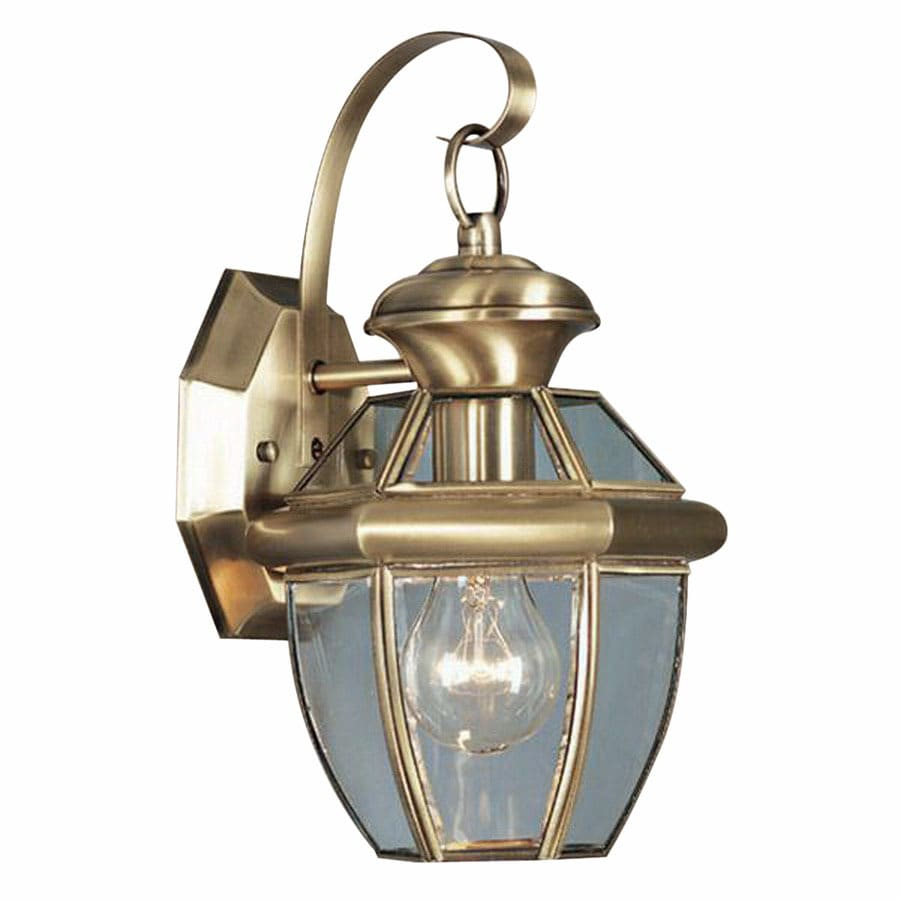 Livex Lighting Monterey 12-1/2-in Antique Brass Outdoor Wall Light