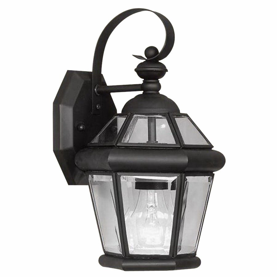 Livex Lighting Georgetown 11-in Black Outdoor Wall Light