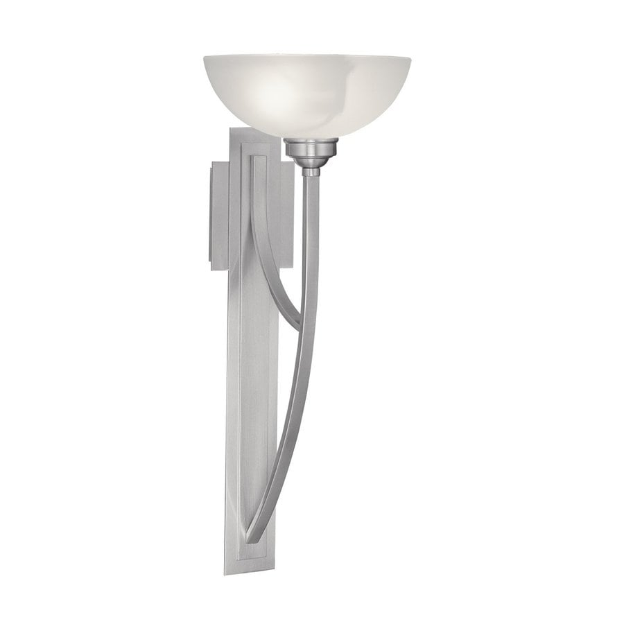 Shop Livex Lighting Somerset 11-in W 1-Light Brushed Nickel Arm Wall Sconce at Lowes.com
