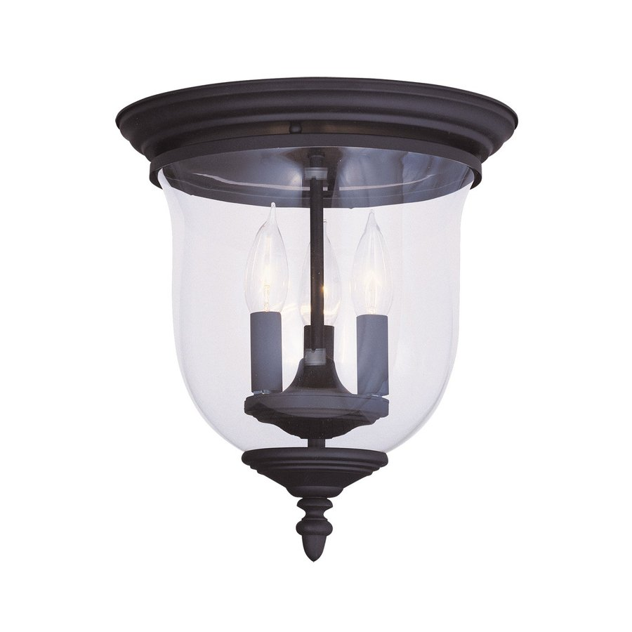 livex lighting legacy 11 5 in w black flush mount light at. Black Bedroom Furniture Sets. Home Design Ideas