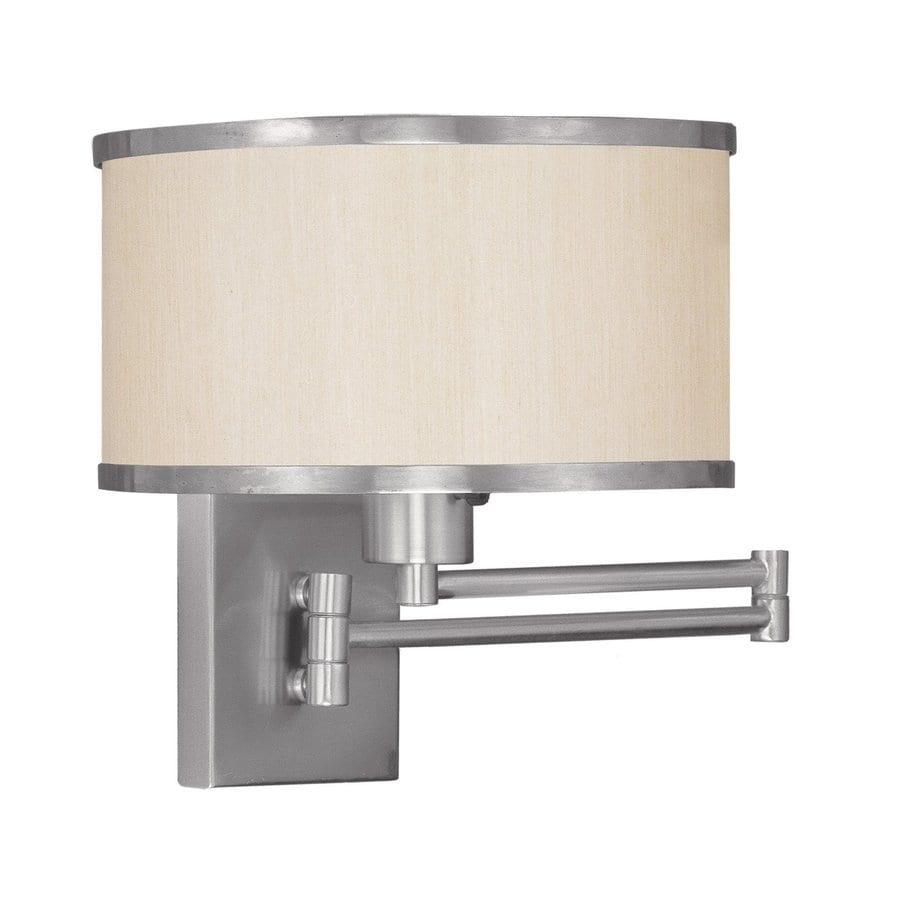 Livex Lighting Park Ridge 11-in W 1-Light Brushed Nickel Swing Arm Wall Sconce