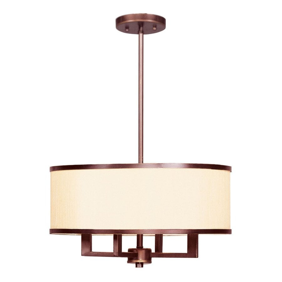 Livex Lighting Park Ridge 18-in Vintage Bronze Single Drum Pendant