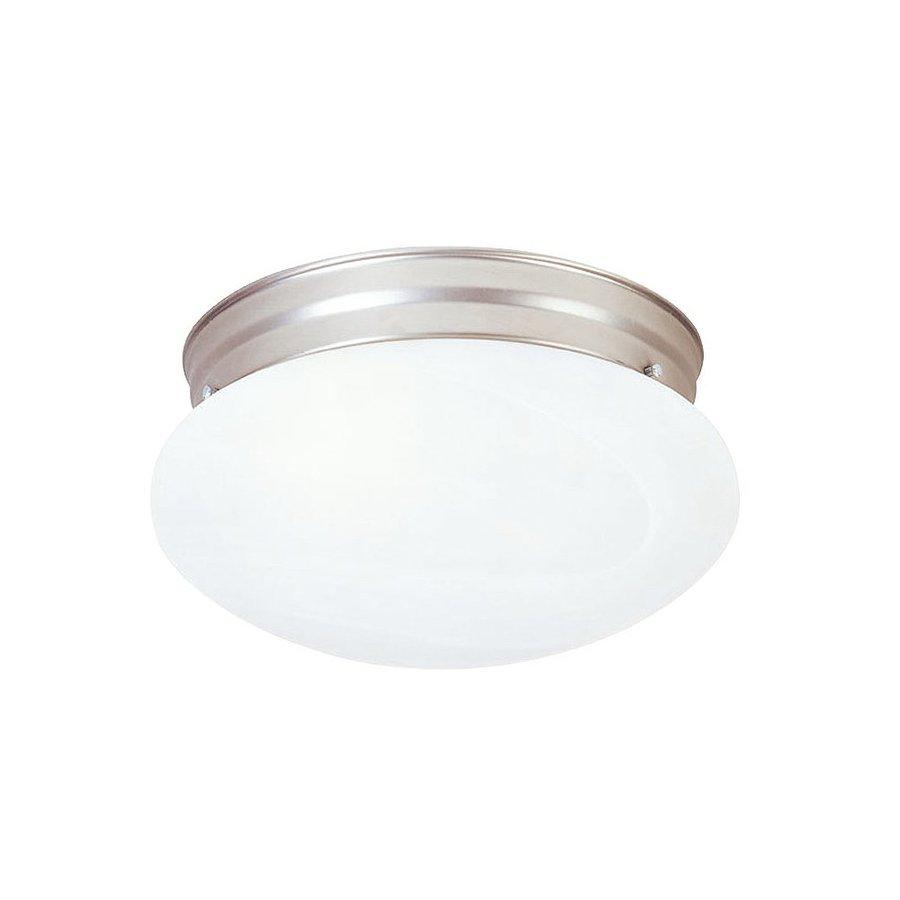 Livex Lighting Home Basics 7.5-in W Brushed Nickel Flush Mount Light