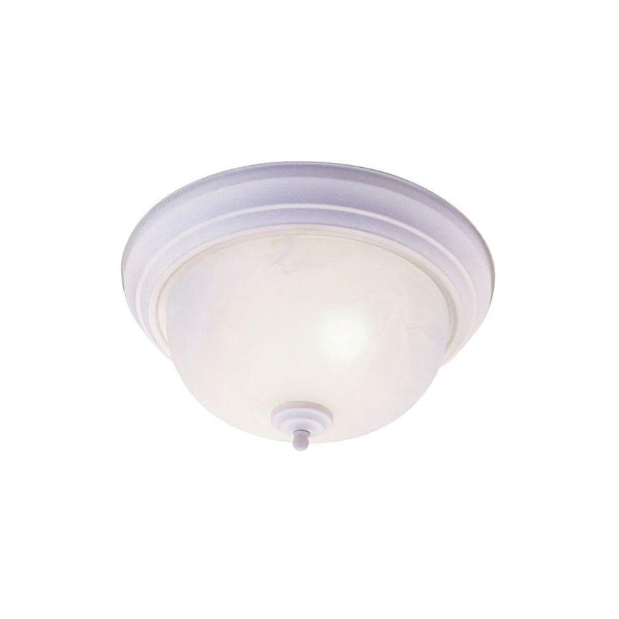 Livex Lighting Regency 11-in W White Flush Mount Light