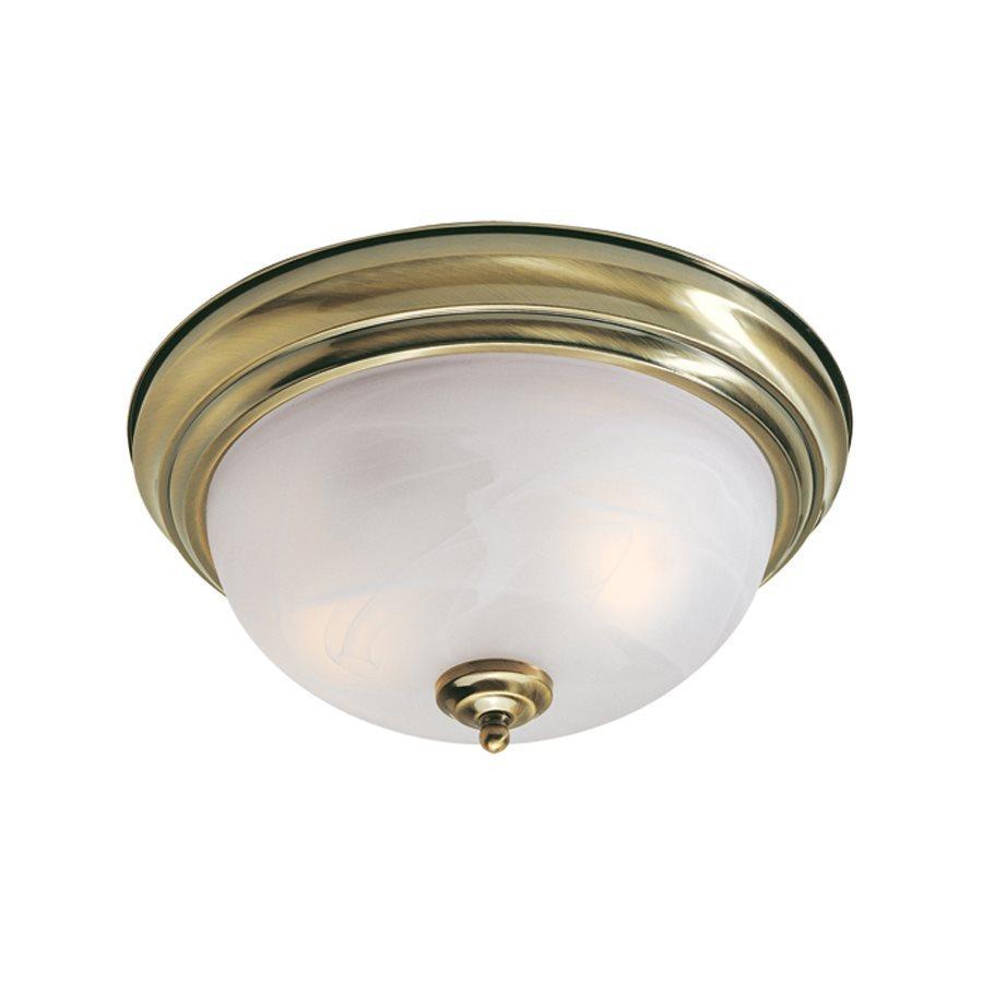 Livex Lighting Regency 13-in W Antique Brass Ceiling Flush Mount Light