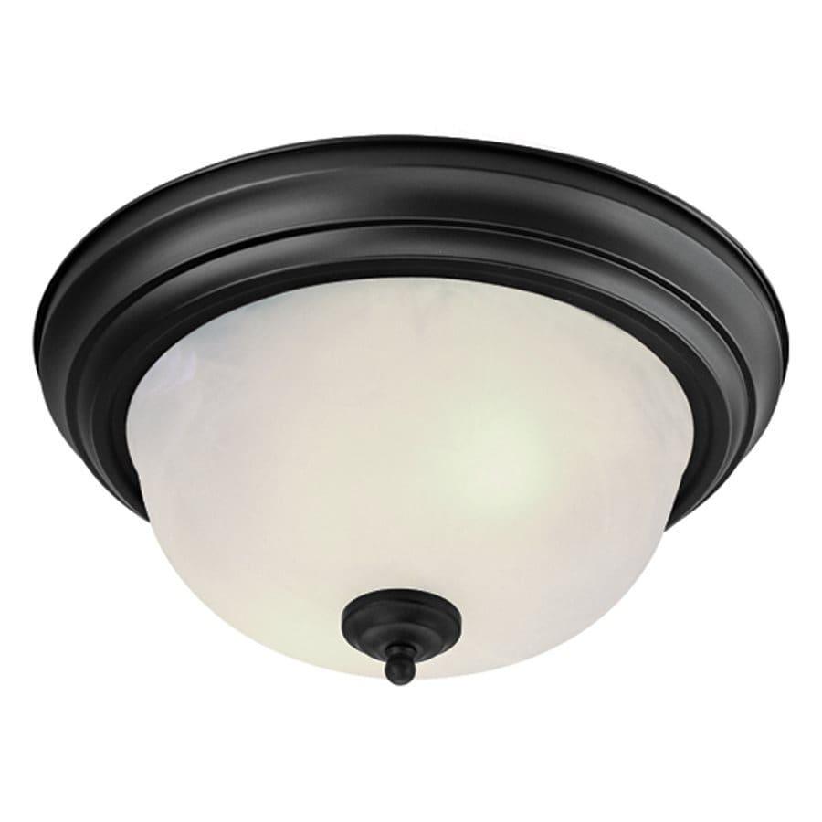 Livex Lighting Regency 15-in W Black Ceiling Flush Mount Light