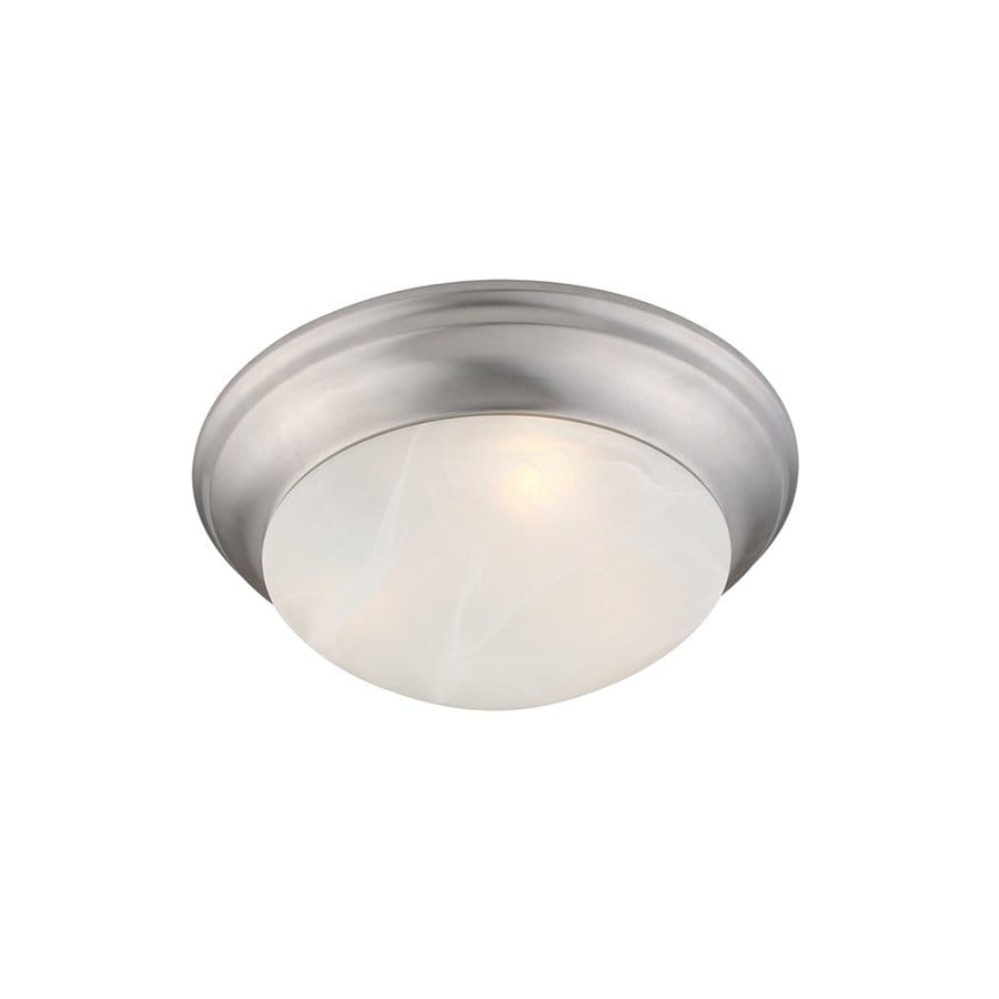 Livex Lighting Omega 9.5-in W Brushed Nickel Ceiling Flush Mount Light