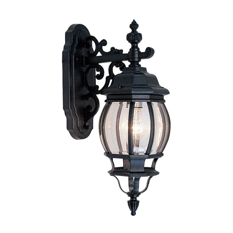 Livex Lighting Frontenac 6.5-in W 1-Light Black Arm Hardwired Wall Sconce