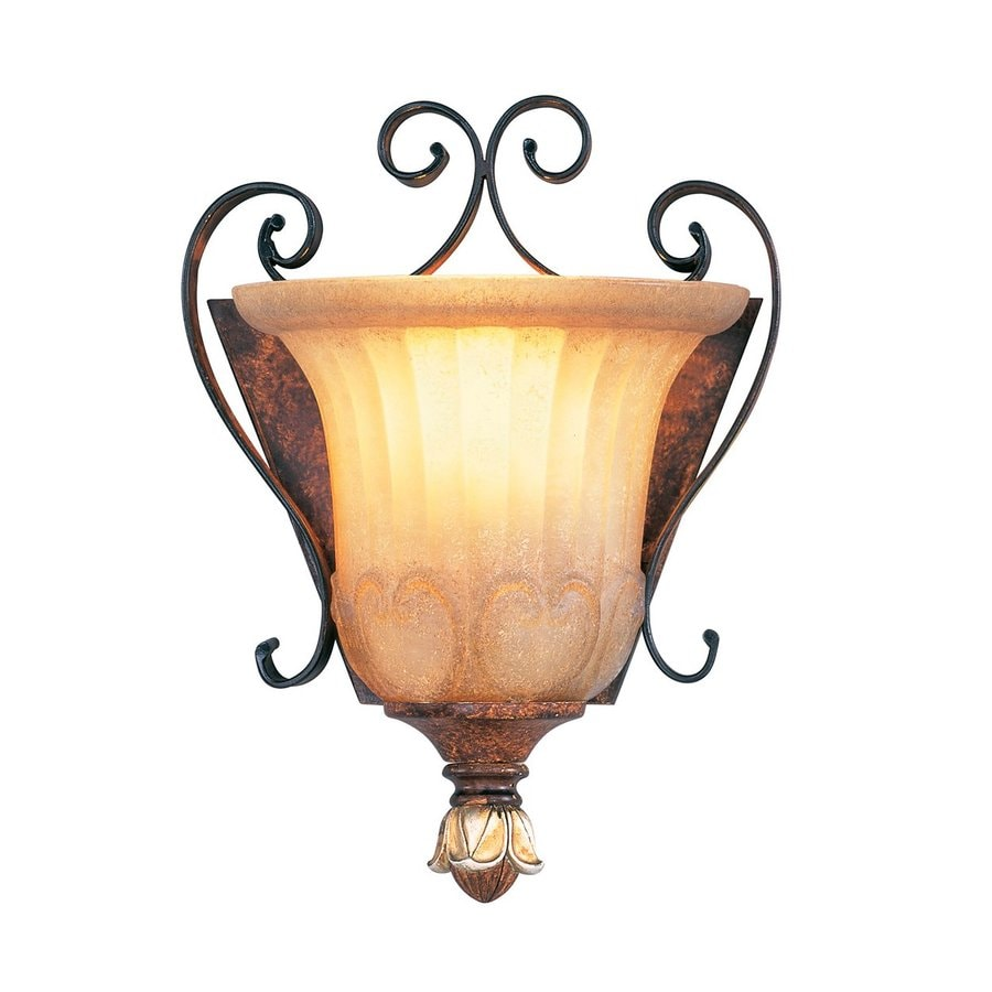 Livex Lighting Villa Verona 7.75-in W 1-Light Verona Bronze Vintage Pocket Wall Sconce