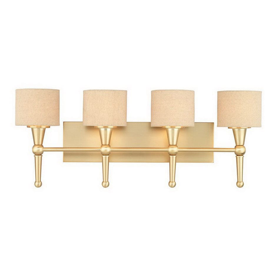 Thomas Lighting 4-Light Allure Couture Gold Art Glass Bathroom Vanity Light  sc 1 st  Loweu0027s & Shop Thomas Lighting 4-Light Allure Couture Gold Art Glass Bathroom ...