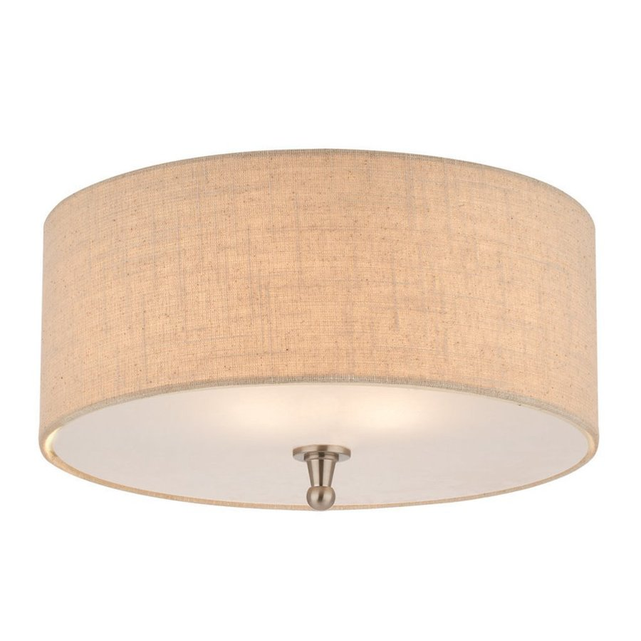 Thomas Lighting Allure 15-in W Brushed Nickel Flush Mount Light
