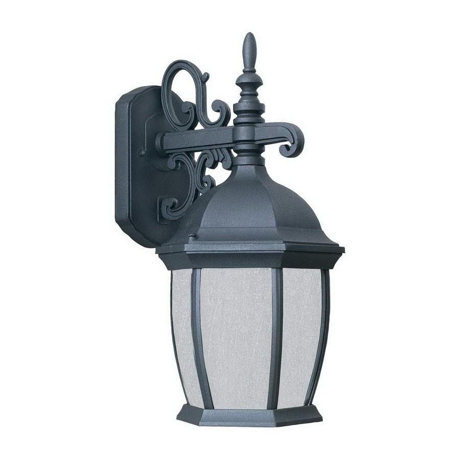 Thomas Lighting Convington 16-in Black Outdoor Wall Light ENERGY STAR