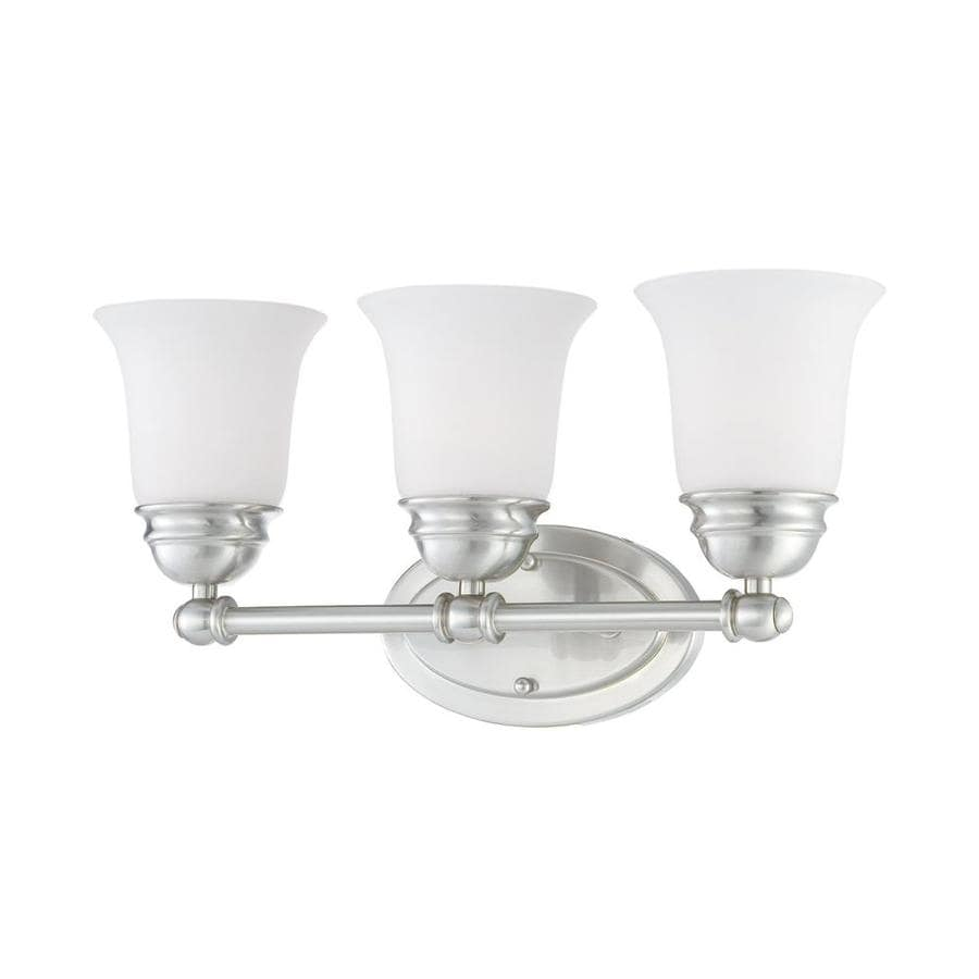 Thomas Lighting Bella 3-Light 9-in Brushed Nickel Bell Vanity Light