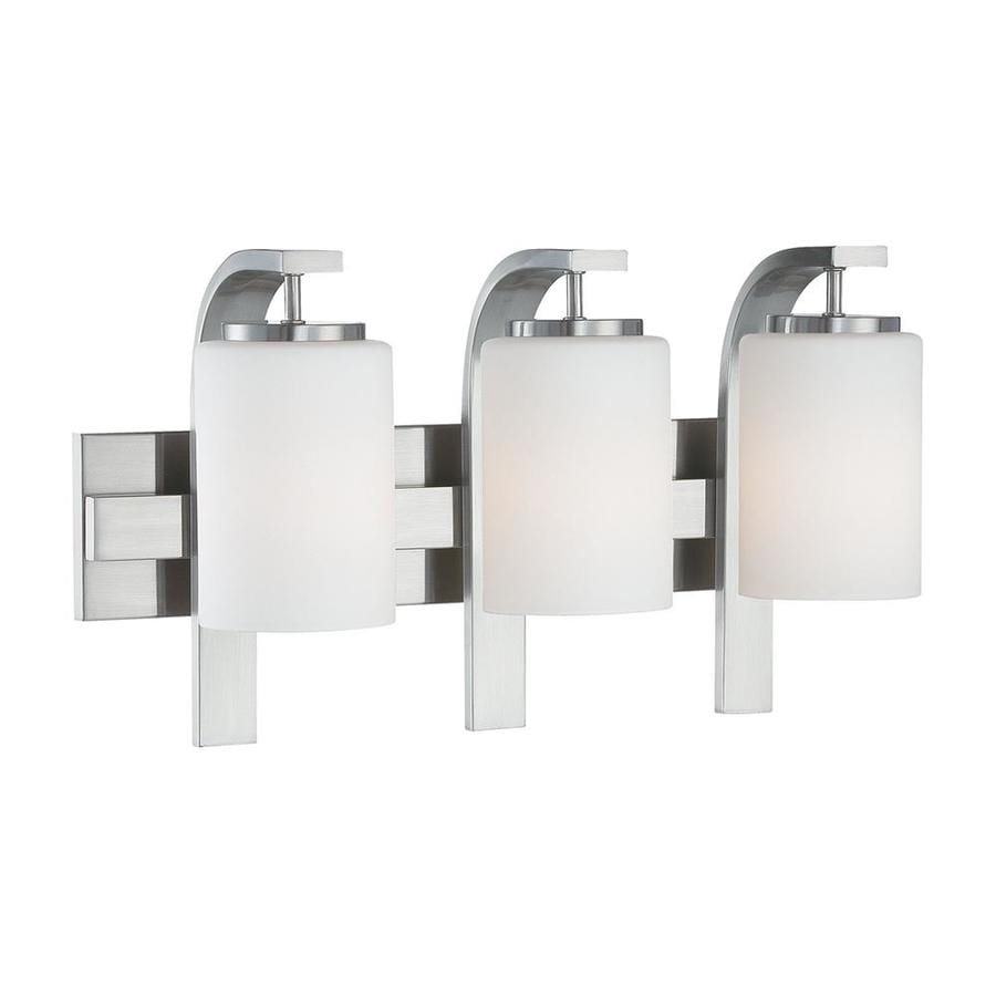 Thomas Lighting Pendenza 3-Light 11.5-in Brushed Nickel Cylinder Vanity Light