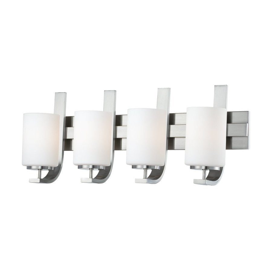 Thomas Lighting Pendenza 4-Light 11.5-in Brushed nickel Cylinder Vanity Light