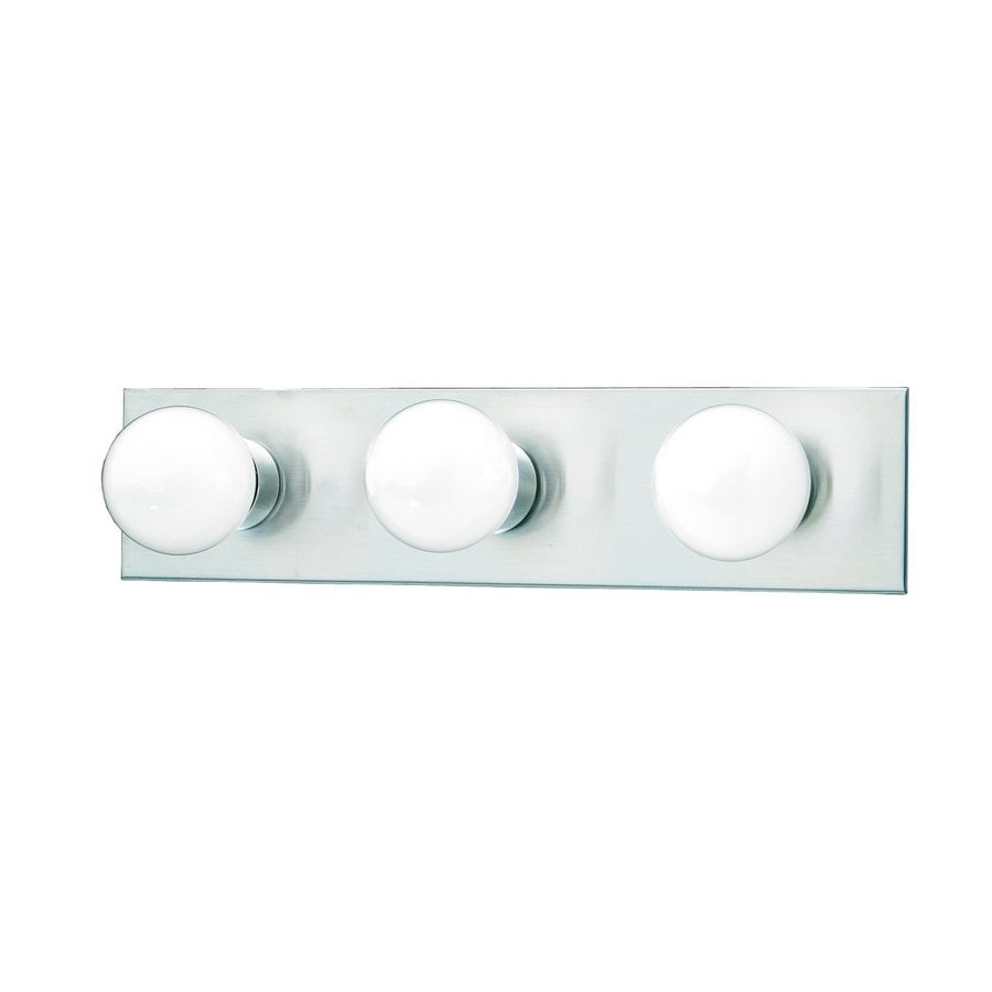Thomas Lighting 3-Light 4.25-in Brushed nickel Vanity Light Bar