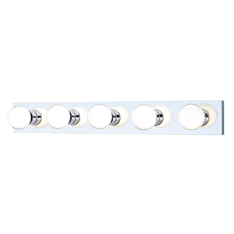 Shop Thomas Lighting 5 Light 30 In Chrome Vanity Light Bar