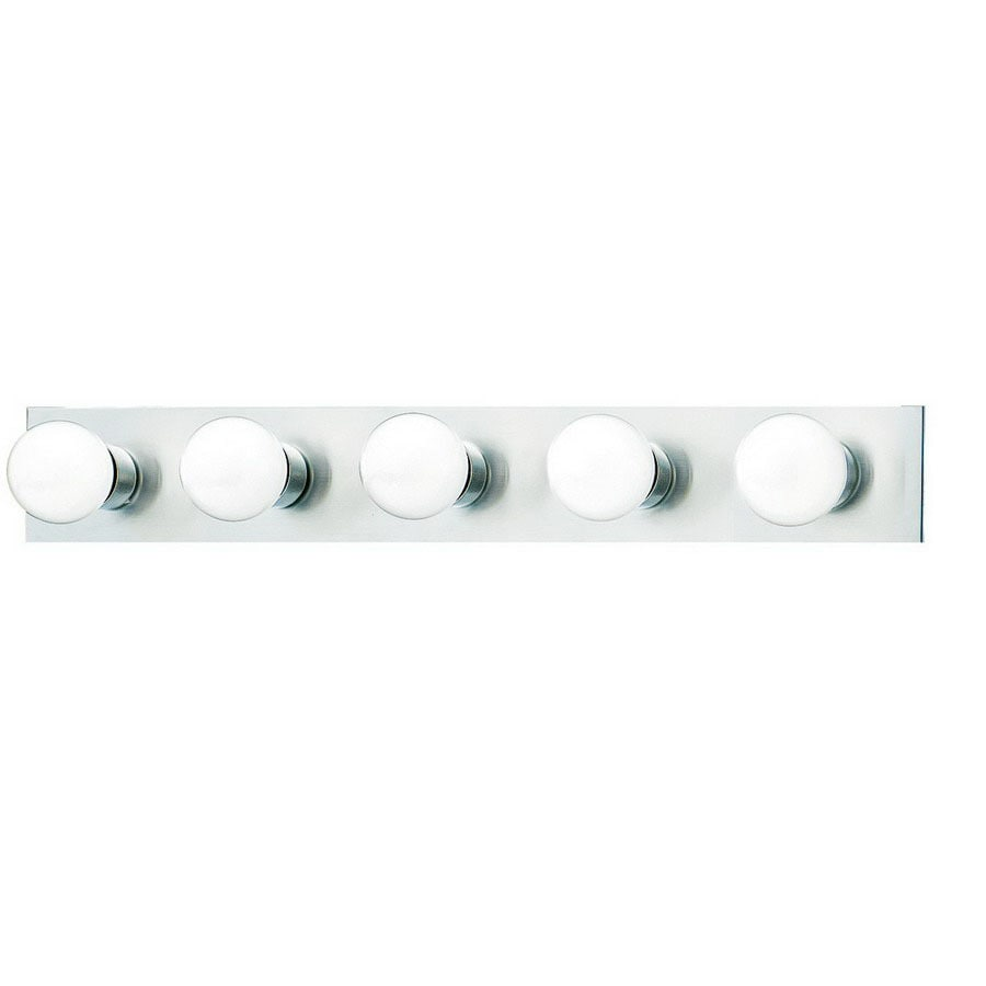 Thomas lighting 5 light strip brushed nickel bathroom vanity light