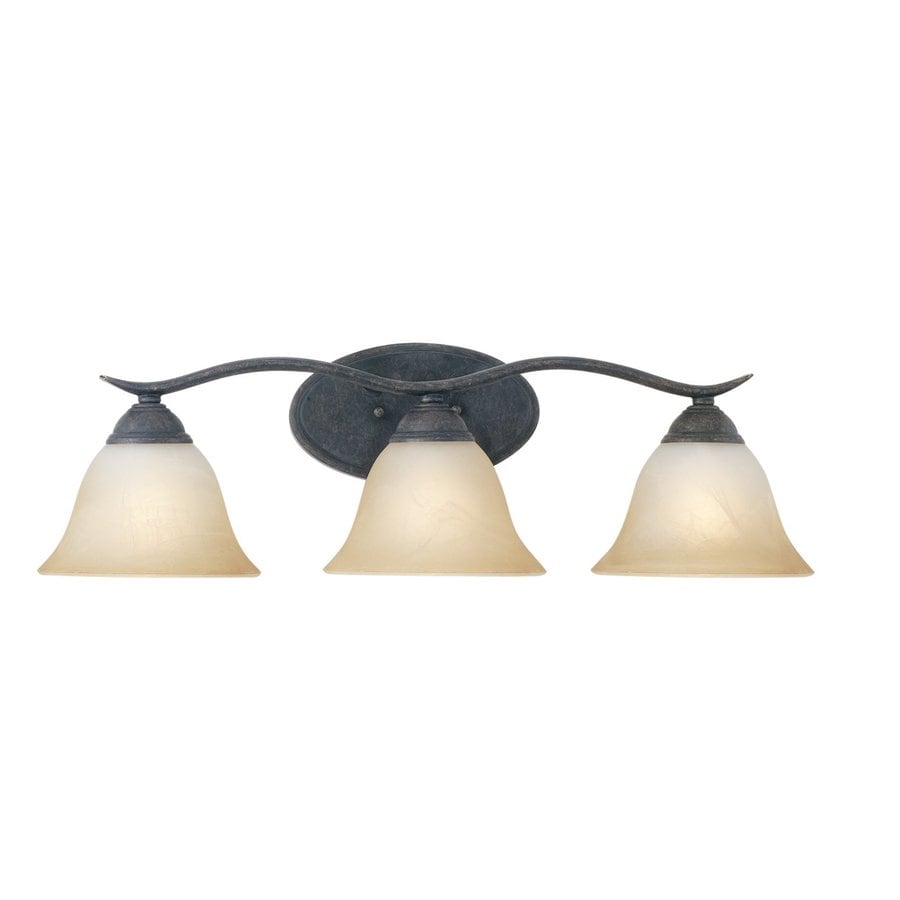 Thomas Lighting Prestige 3-Light 8.25-in Sable Bronze Bell Vanity Light