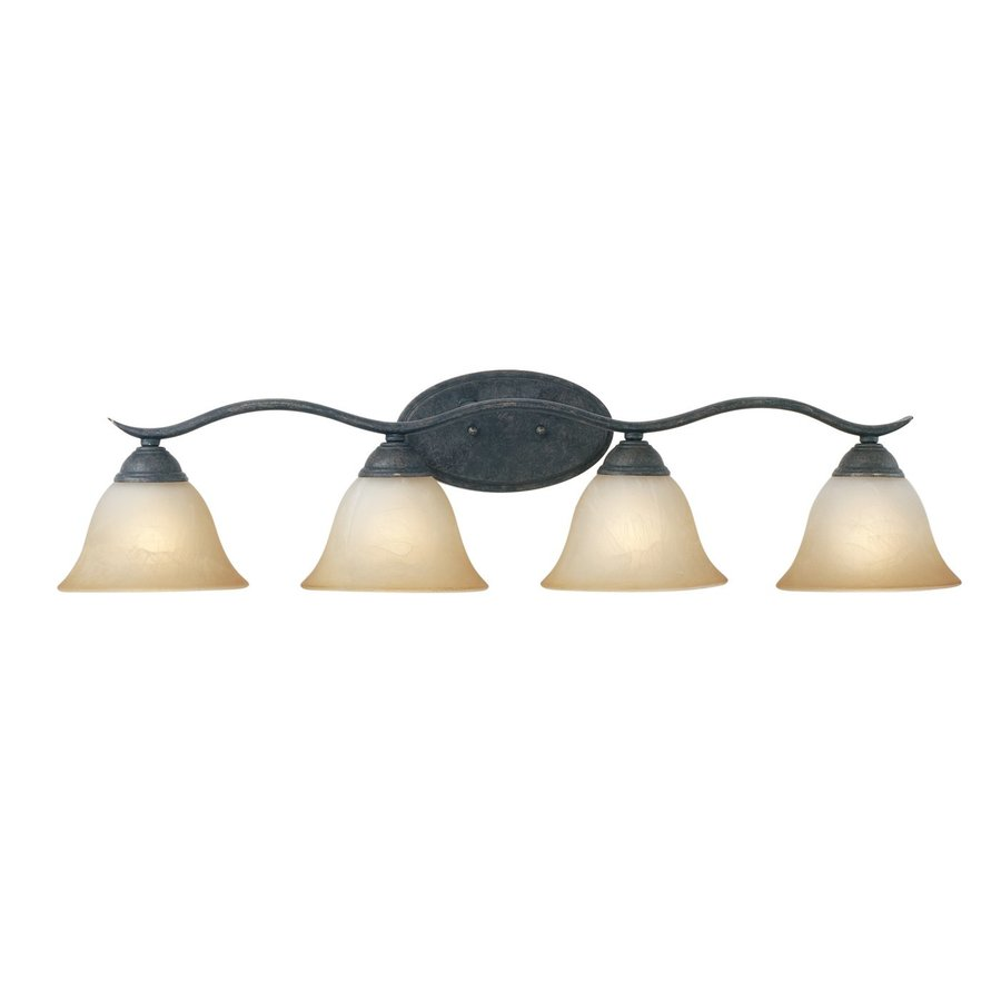 Thomas Lighting Prestige 4-Light 8.25-in Sable Bronze Bell Vanity Light