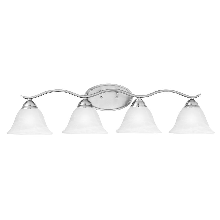 Thomas Lighting Prestige 4-Light 8.25-in Brushed Nickel Bell Vanity Light
