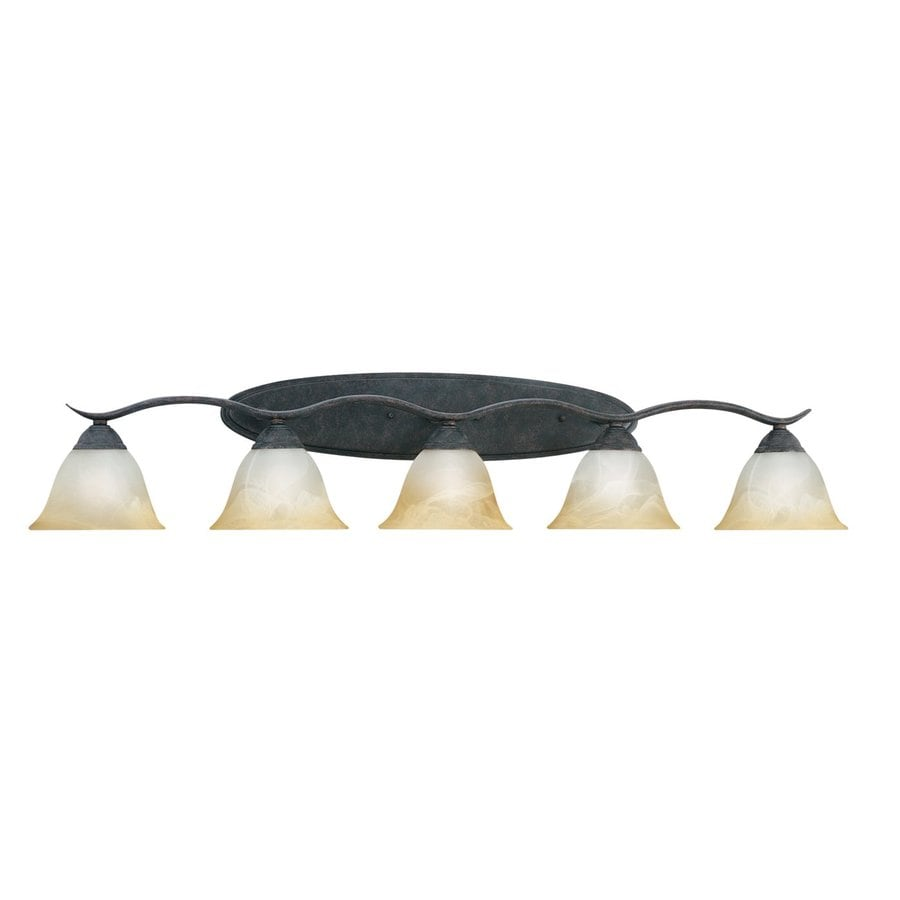 Thomas Lighting Prestige 5-Light 9-in Sable Bronze Bell Vanity Light