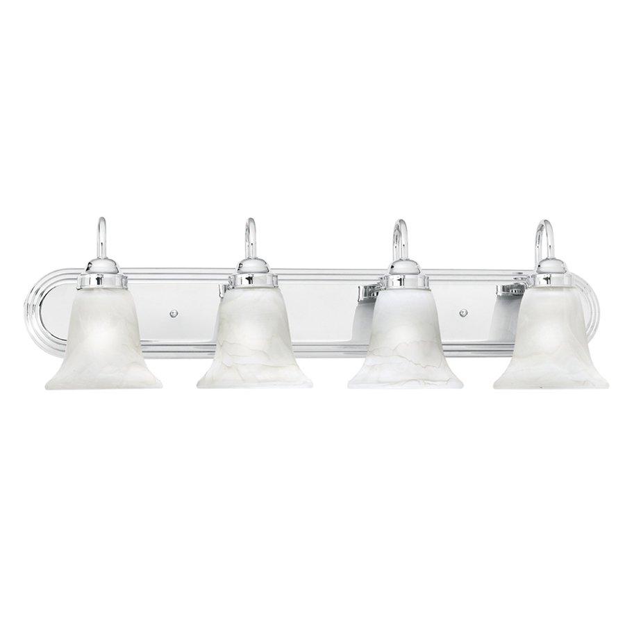 Thomas Lighting Homestead 4-Light 9-in Chrome Bell Vanity Light