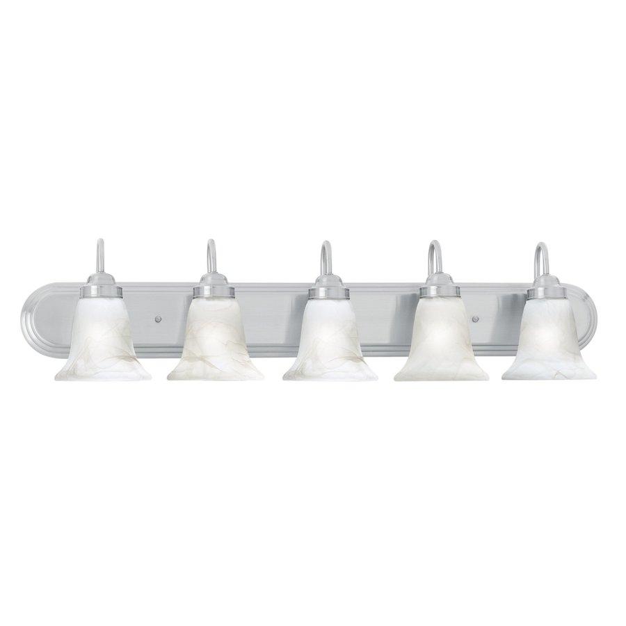Thomas Lighting Homestead 5-Light 9-in Brushed Nickel Bell Vanity Light