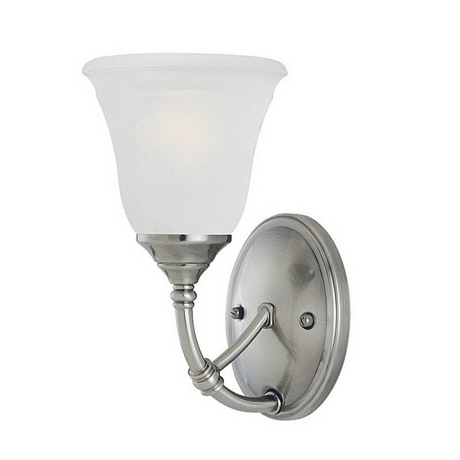 Thomas Lighting Harmony 5.5-in W 1-Light Satin Pewter Arm Wall Sconce