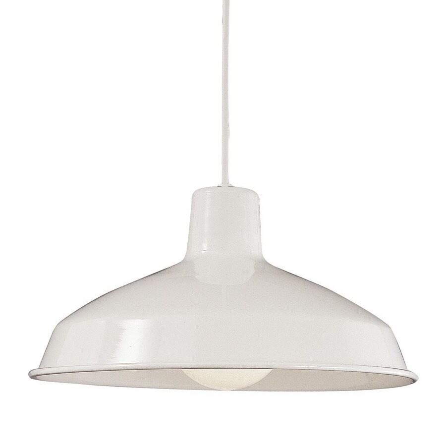 Thomas Lighting 16-in W White Pendant Light with White Shade