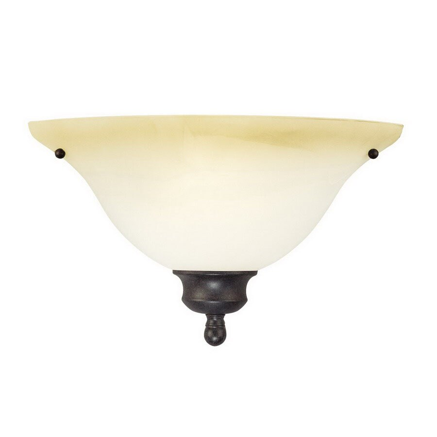 Thomas Lighting 14-in W 1-Light Sable Bronze Pocket Wall Sconce