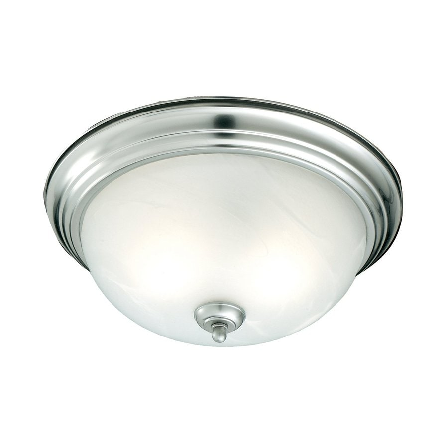 Thomas Lighting 11.25-in W Brushed Nickel Flush Mount Light