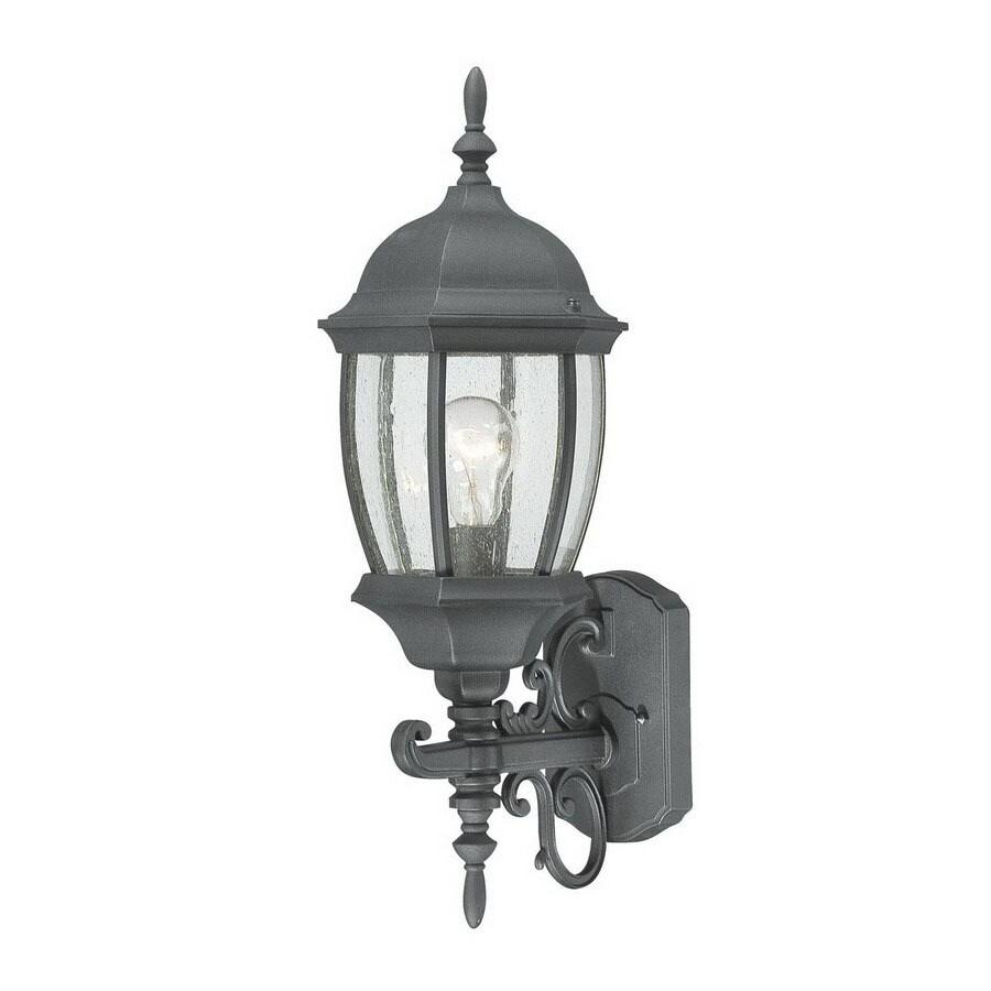 Thomas Lighting Convington 21-1/2-in Black Outdoor Wall Light