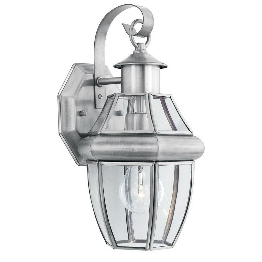 Thomas Lighting Heritage 13-1/4-in Satin Pewter Outdoor Wall Light