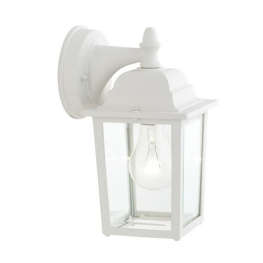 Thomas Lighting Hawthorne 10-in Matte White Outdoor Wall Light