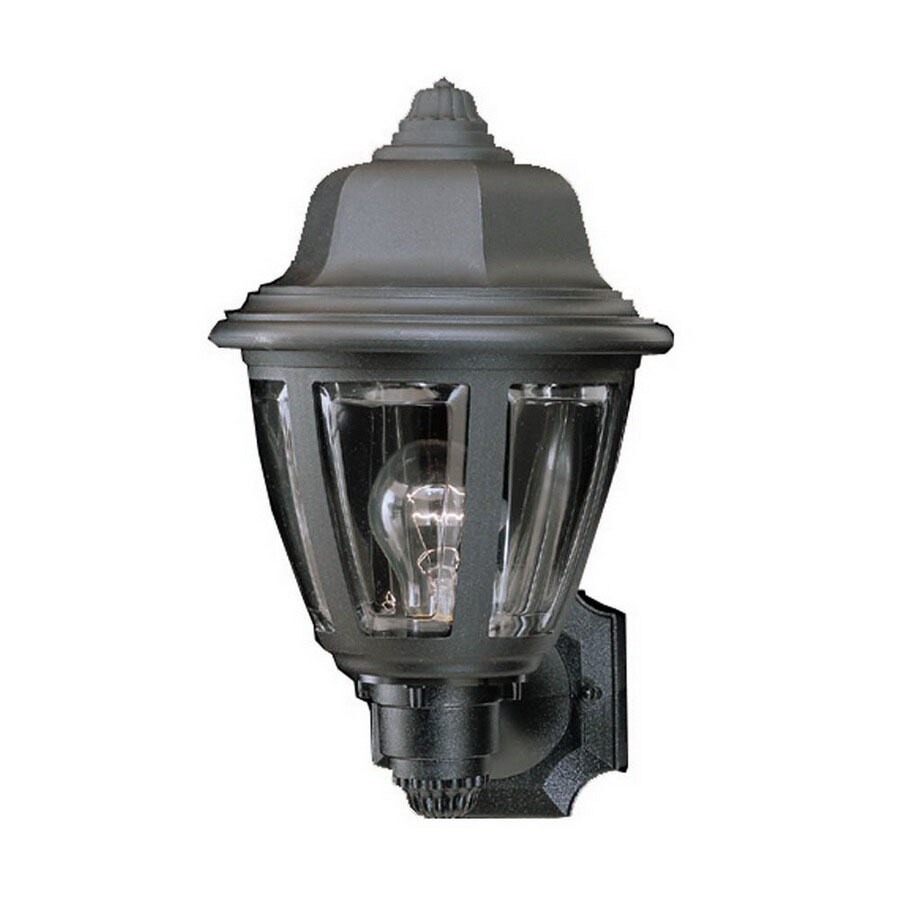 Thomas Lighting 13-1/2-in Black Outdoor Wall Light