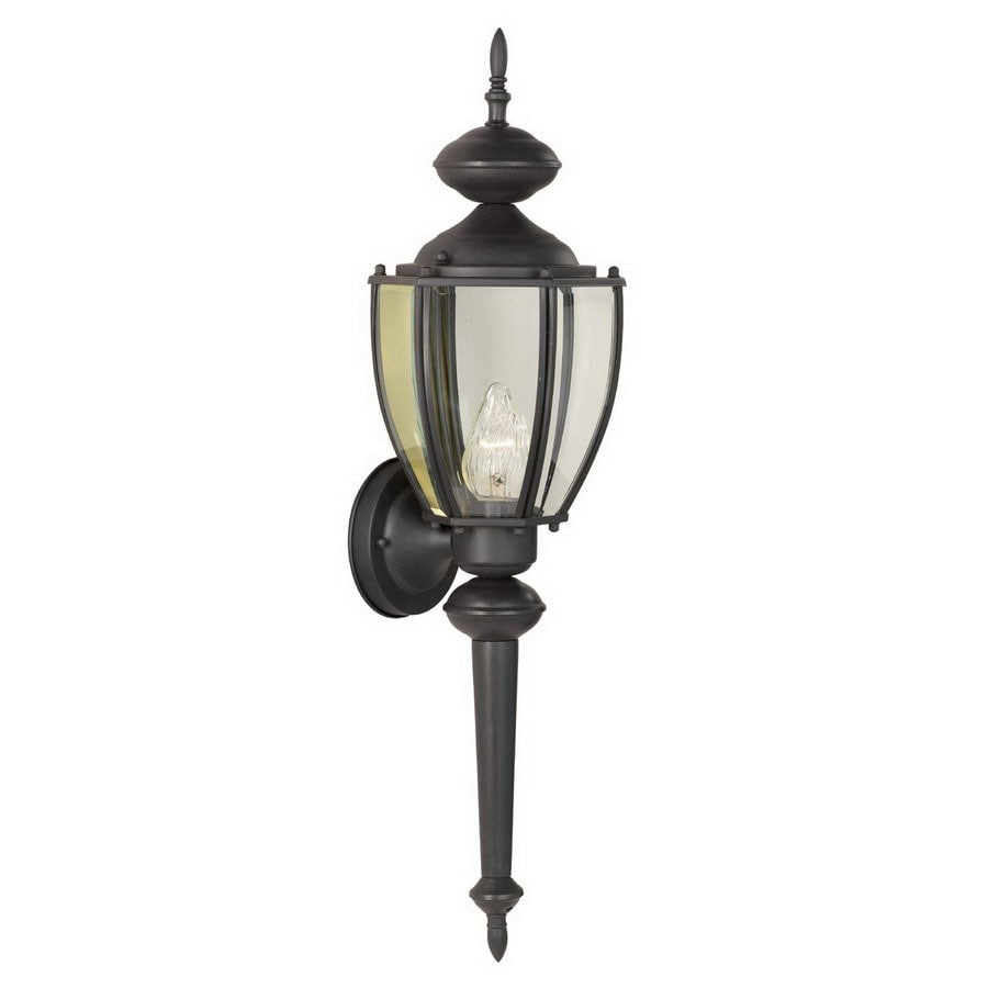 Thomas Lighting Park Avenue 24-in Black Outdoor Wall Light