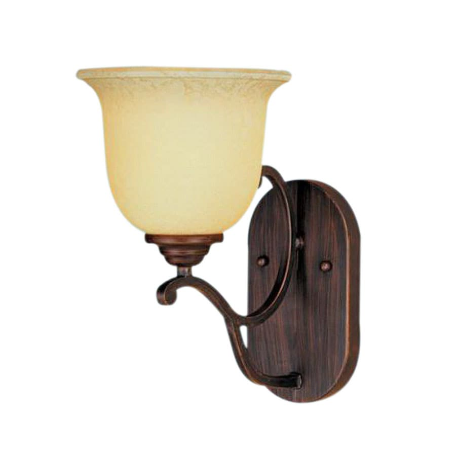 Millennium Lighting Courtney Lakes 7-in W 1-Light Rubbed Bronze Arm Hardwired Wall Sconce