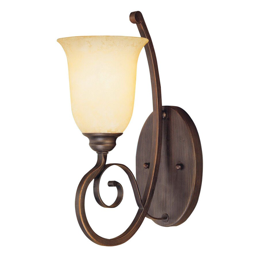 Adjustable Wall Sconce Lowe S : Shop Millennium Lighting Chateau 5.5-in W 1-Light Rubbed Bronze Arm Wall Sconce at Lowes.com