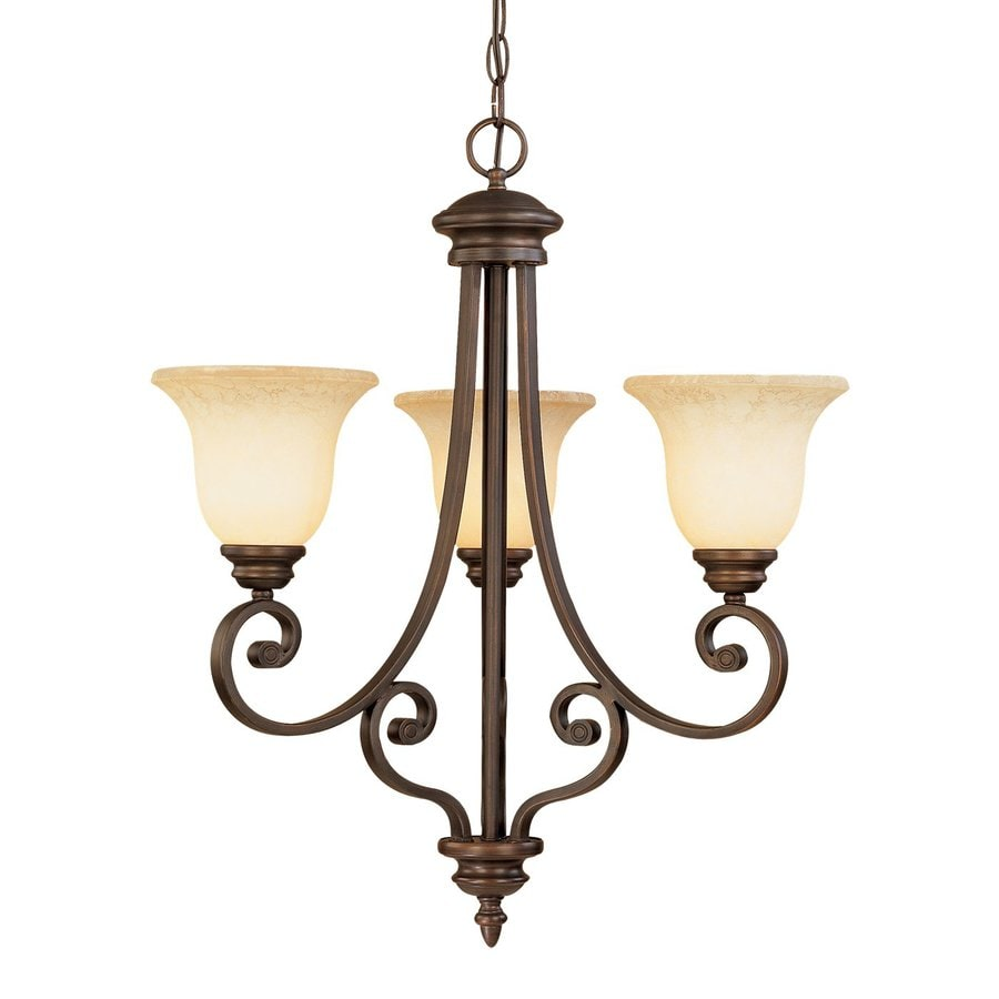 Shop Millennium Lighting Oxford 23 In 3 Light Rubbed