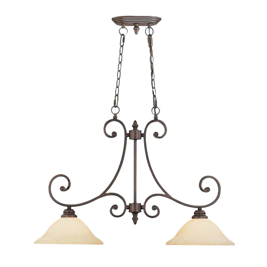 Millennium Lighting Oxford W 2-Light Rubbed Bronze Kitchen Island Light with Shade