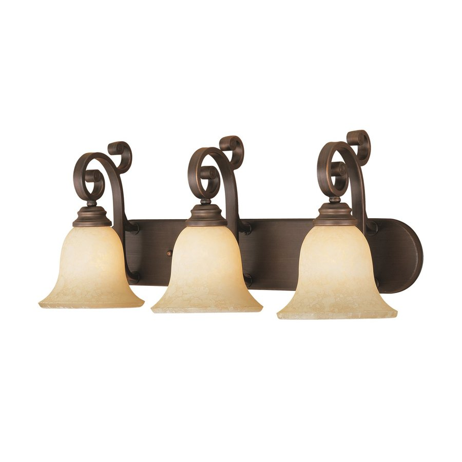 Millennium Lighting Oxford 3-Light 11-in Rubbed Bronze Bell  Vanity Light