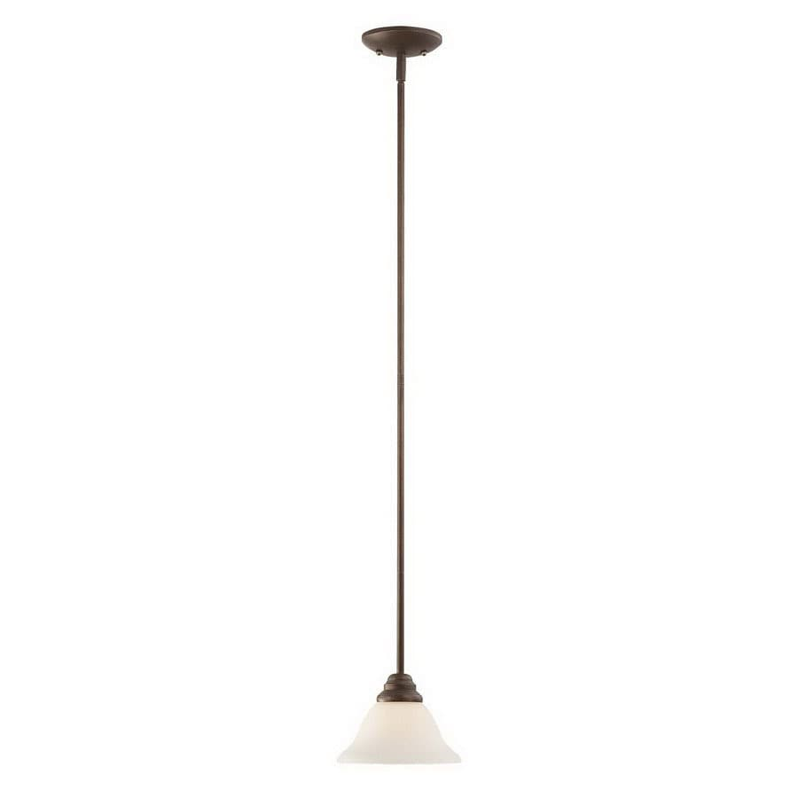 Millennium Lighting Fulton 7.5-in Rubbed Bronze Country Cottage Mini Etched Glass Bell Pendant