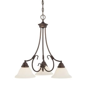 millennium lighting fulton 21in 3light rubbed bronze etched glass shaded chandelier
