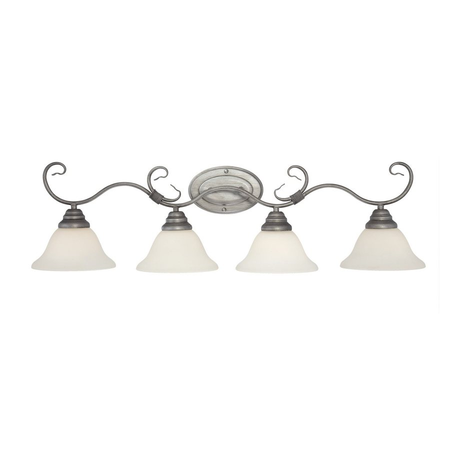 Millennium Lighting 4-Light 9.5-in Rubbed Silver Bell Vanity Light