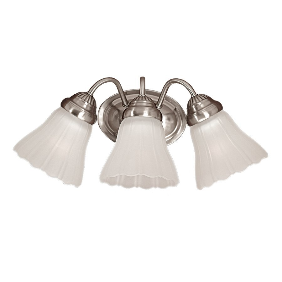 Millennium Lighting 3-Light 8-in Satin Nickel Bell Vanity Light
