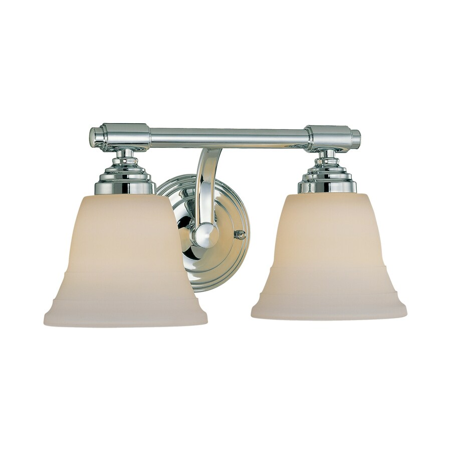 Millennium Lighting 2-Light 7.5-in Chrome Bell Vanity Light