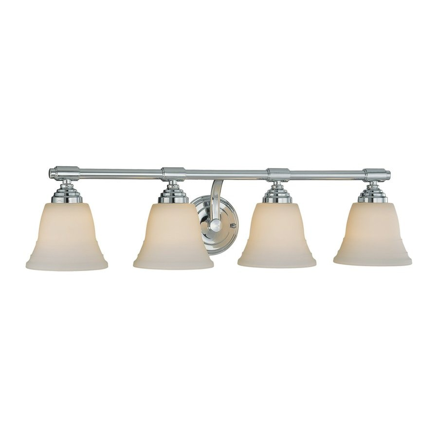 Millennium Lighting 4-Light 7-in Chrome Bell Vanity Light