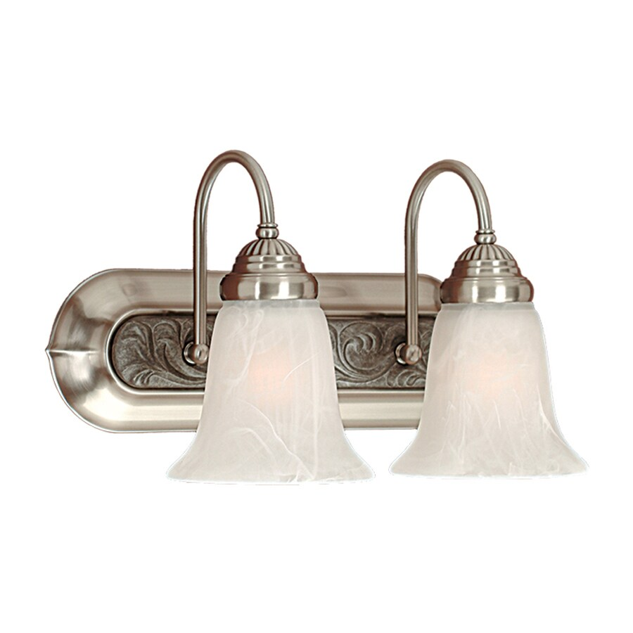 Millennium Lighting 2-Light 8.5-in Satin Nickel Bell Vanity Light