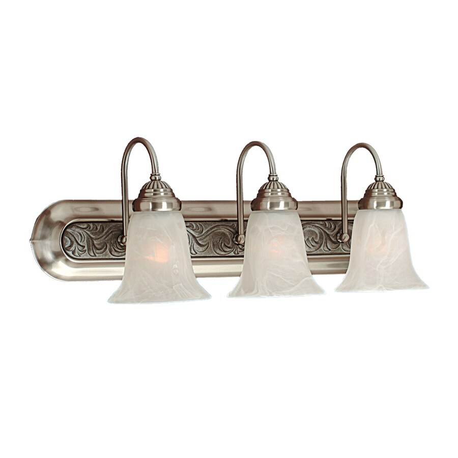 Millennium Lighting 3-Light 8.5-in Satin Nickel Bell Vanity Light